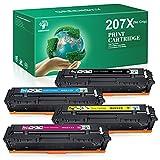 GREENSKY 207X Cartucho de Toner Compatible para HP 207X 207A para HP Color Laserjet Pro MFP M283fdw M283fdn M282nw M255dw M255nw para W2210X W2211X W2212X W2213X W2210A W2211A W2212A W2213A (Sin Chip)