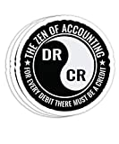Zen of Accounting Major Degree Accountant CPA Gift Decorations - 4x3 Vinyl Stickers, Laptop Decal, Water Bottle Sticker (Set of 3)