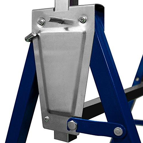 2x Gerüstbock Unterstellbock Klappbock Stützbock höhenverstellbar 81-130 cm Gerüst 400kg Tragkraft insgesamt - 5