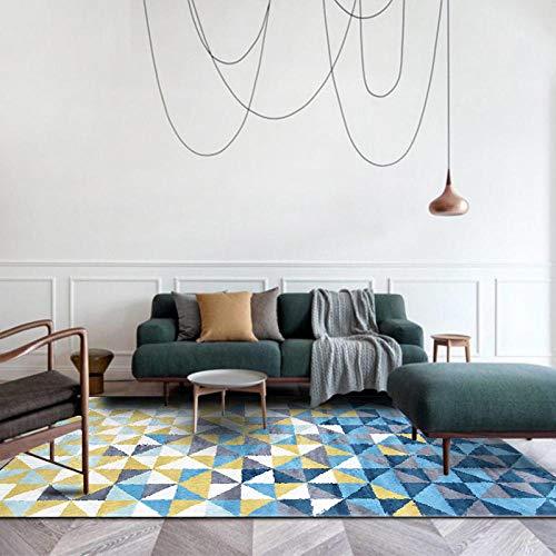 Alfombras Salon Grande Alfombra para Dormitorio Antideslizante Alfombra Grande Triángulo pequeño Amarillo...