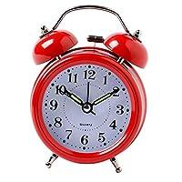 デジタル 目覚まし時計 大音量 時計 多色選べる - 赤