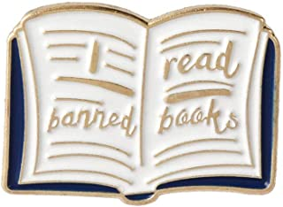 Fmissyao Cute Enamel Lapel Pins, Banned Read Books Pin, DIY Pin for Clothing/Bags/Backpacks/Jackets/Hat