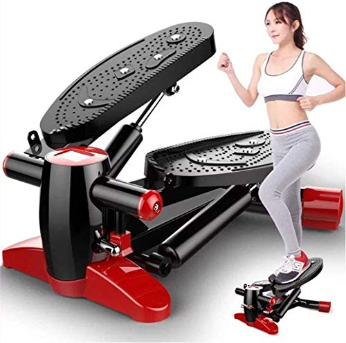 Sooiy Mini Stepper Crosstrainer Fitness-Übungs-Trainer mit Anti-Rutsch-Pedal, HD Display, Quiet Trainer für Home Office Steppers