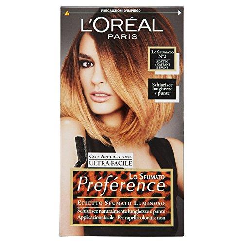 L'Oréal Paris Préférence Lo Sfumato, Colorazione Effetto Sfumato, Luminoso 2 Castane e Brune
