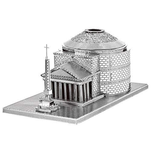 3D Puzzle de Metal Arquitectura del Panteón Romano Montar Kits de Modelos Regalo de Bricolaje 3D Corte por Láser Armar Jigsaw Toy para Niño
