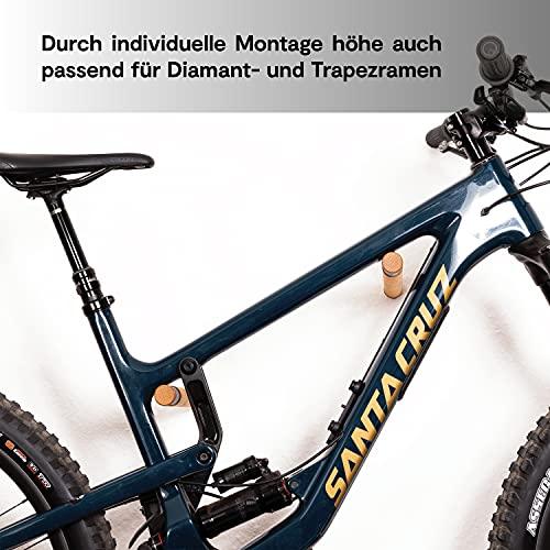 Bike Stix® Fahrrad Wandhalterung aus Holz - Super hochwertige Auflage der Fahrradhalterung - Minimalistisches Design aus Eiche für Rennrad, Fahrrad und MTB (MTB Eiche)