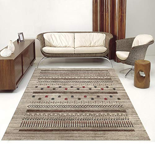 Tapijt Gabbeh 485 - tapijt Ethno Tribal - Bruin - 120 x 170 cm