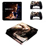 TSWEET Game Dark Souls Ps4 Slim Skin Sticker Decal For Playstation 4 Console and 2 Controllers Ps4 Slim Skins Stickers Vinyl