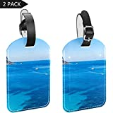 LORVIES Ibiza Sea Coast Etiquetas de equipaje etiquetas de viaje etiqueta nombre tarjeta titular para equipaje maleta mochila 2 piezas