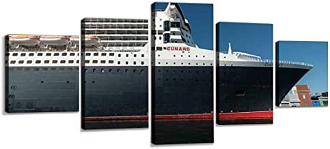 RMS Queen Mary 2 Wall Decoration Print Photo on Canvas Modern Photography Home Decor Modern Canvas Painting Wall Art 5 Piece