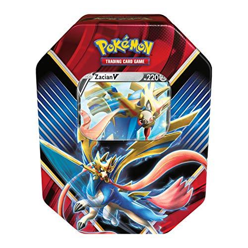 Lata Pokémon Zacian V Lendas de Galar, Copag, colorido