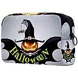 Neceseres para Maquillaje de niños Murciélago de Calabaza de Halloween Animales Bonitos Bolsa de Almacenamiento de Viaje de Impresa Personalizada 18.5x7.5x13cm