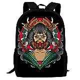 Hermosas mochilas japonesas Geisha mujer lindos patrones impresos bolsa tamaño perfecto para la escuela y viajes