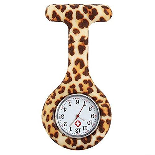 Luococo Reloj de enfermera, diseño de leopardo