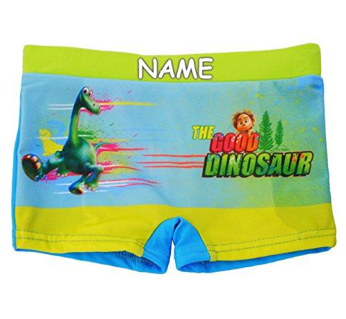 alles-meine.de GmbH Badehose / Badeshorts - Arlo & Spot - Dinosaurier / The Good Dinosaur - incl. Name - Größe 2 bis 3 Jahre - Gr. 98 bis 104 - für Jungen Kinder Badepants - ..