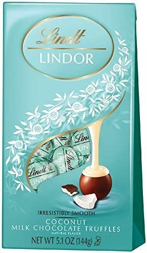 Lindt LINDOR Coconut Milk Chocolate Truffles 5 1 Ounces Pack of 3 product image