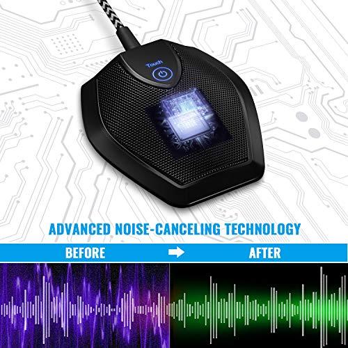 TONOR Konferenzmikrofon USB PC Mikrofon, Omnidirektionale Kondensator Mikrofone für Aufnahme/Podcasting/Streaming/Gesang/Chats/Desktop Computer G11