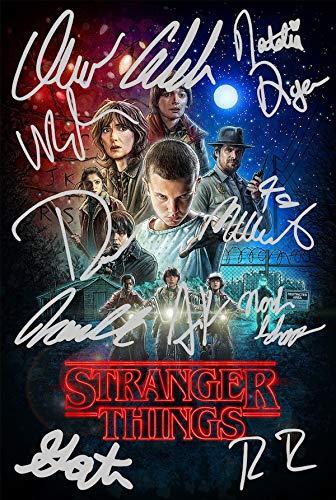 Póster de Stranger Things con autógrafos preimpresos de los 11...