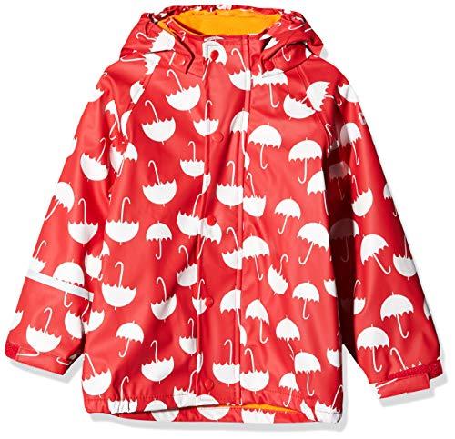 CareTec Kinder Regenjacke mit Fleece Lining, Rot (Red 402), Herstellergröße: 86