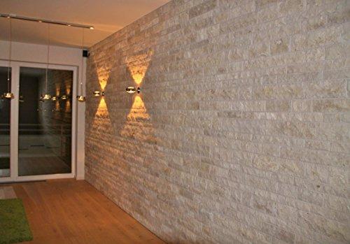 Wohnrausch W3DC Travertin Crema 3D Wandverkleidung, hell- bis dunkelbeige