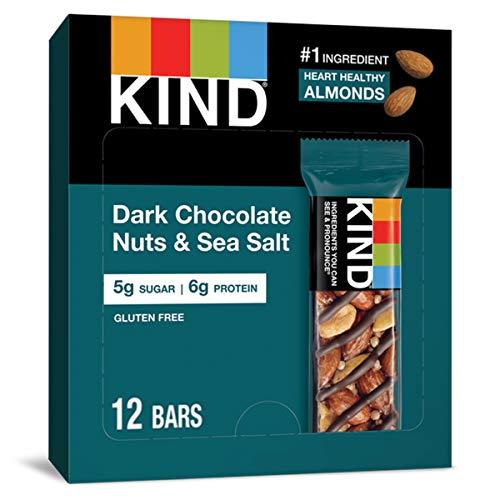 KIND Bars, Dark Chocolate Nuts & Sea Salt, Gluten...