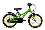 Rad S'COOL Kinder Xxlite Steel Kinderfahrrad, Green/Yellow, 16 Zoll für Kinder bei Lucky Bike
