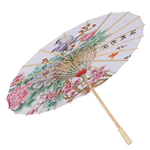 Hztyier klassieke geoliede papieren paraplu, Chinese Japanse oosterse parasol, bruiloft, bruidspaar, decoratieve foto-steun-paraplu