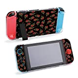 SUPNON Switch Case Compatible with Nintendo Switch Games Protective Hard Carrying Cover Case for Nintendo Switch Console Joy Con Controlle - Red Rose Bouquet On Black Background Design20492