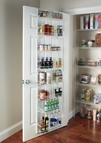 Adjustable 8-Tier Wall and Door Rack for Pantry Storage