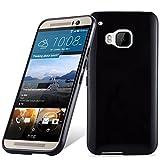 Cadorabo Funda para HTC One M9 en Negro – Cubierta Proteccíon de Silicona TPU Delgada e Flexible con Antichoque – Gel Case Cover Carcasa Ligera