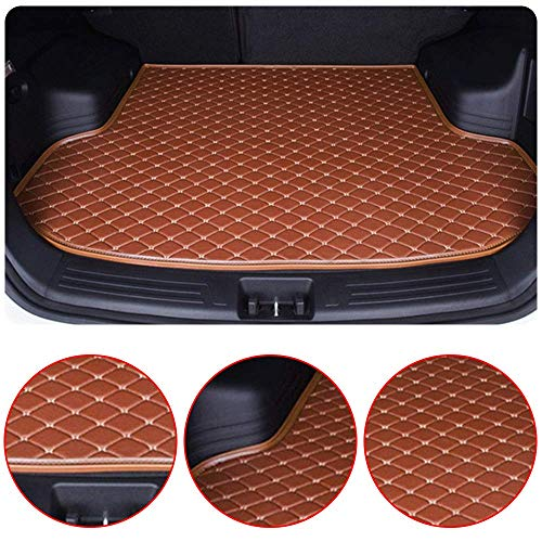 Custom Car Floor Mats Fit for Mercedes Benz GLK Class 2008-2014 Full Coverage All Weather Protection Waterproof Non-Slip Leather Liner Set Black with Beige Line