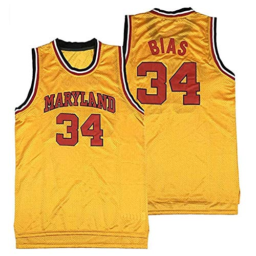 Men's Len 34 Bias Custom Movie Basketball Jersey S-5XL Yellow