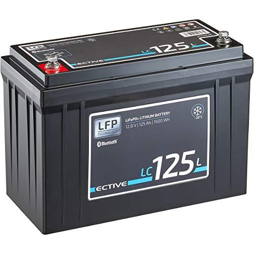 ECTIVE LC125L LT 12V 125Ah 1600Wh -30 Grad Low Temperature LiFePO4 Lithium-Eisenphosphat Versorgungs-Batterie mit Bluetooth-Funktion und App