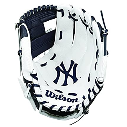Wilson A200 MLB NYY Team Baseball/Softball, Unisex Juventud, Navy/White, 10