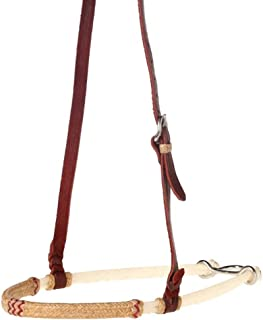 NRS Red Lace Rawhide Covered Double Rope Noseband