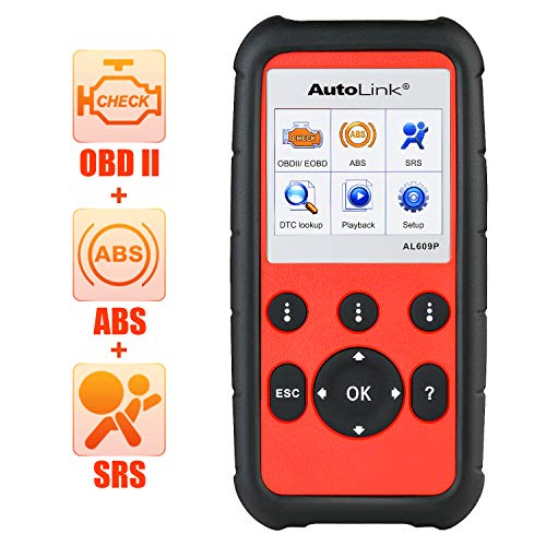 Autel AutoLink AL609P Pro OBD2 Scanner with ABS SRS Diagnosis Auto VIN Automotive Scan Tool Read Erase Check Engine Fault Codes