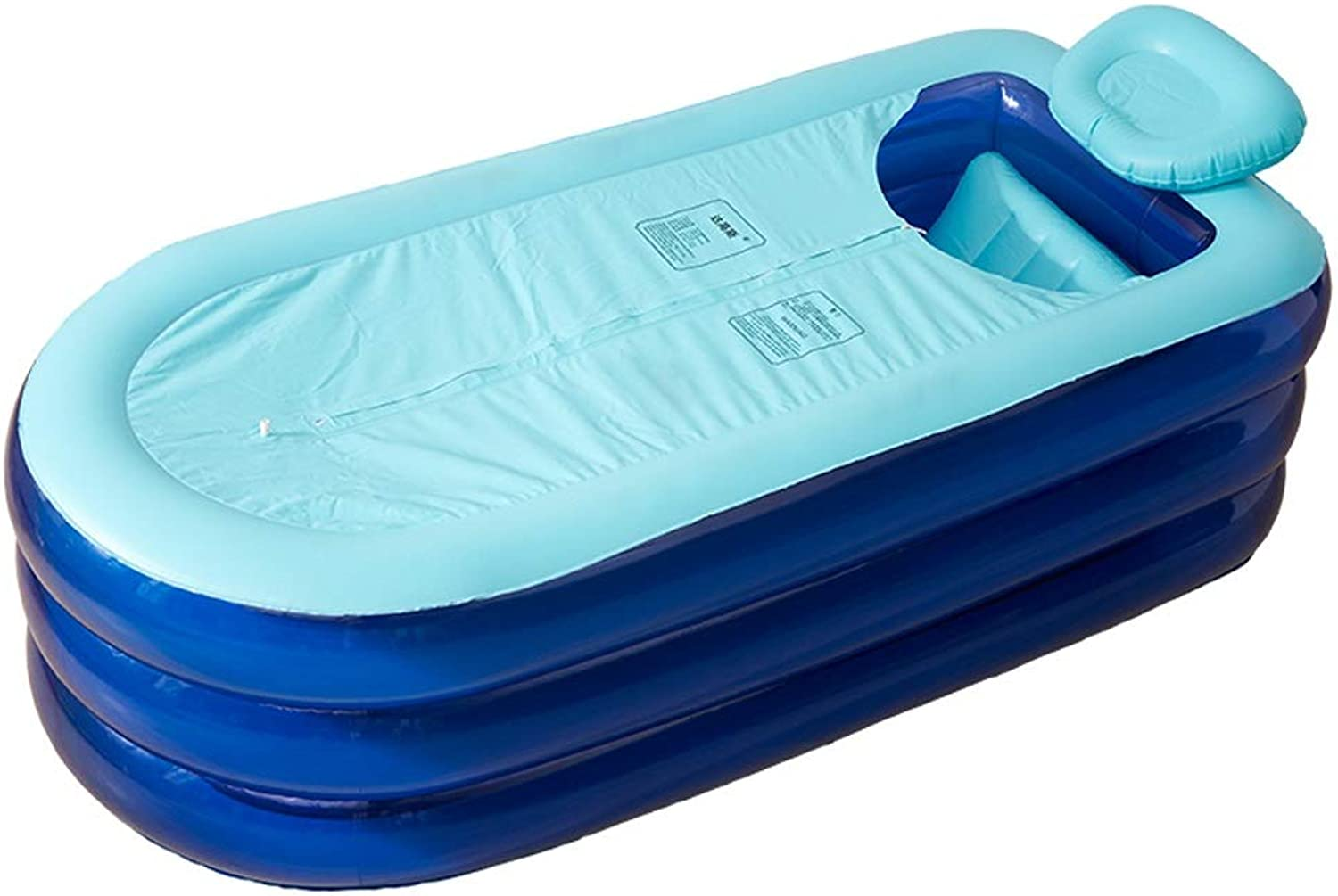 XAOBNIU Inflatable Bathtub Adult Foldable Bathing Bucket Thick Plastic Household Tub 168  78  48cm
