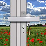 Patio French Door Lock Single Handle 'Box Section' High Security Deadlock Sliding Fix Bar Seen from Outside Tough