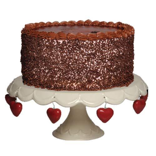 Cottage Creek Cake Stand 11.25 Inch White Ceramic Round Cake Plate Cake Pedestal Stand