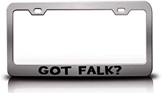 Custom Brother - GOT Falk? Family Name Steel Metal License Plate Frame Ch