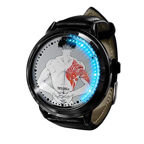 Reloj Tokyo Ghoul Reloj Pantalla táctil LED Impermeable Luz Digital Reloj Reloj de Pulsera Unisex Cosplay Regalo Nuevos Relojes de Pulsera niños-A6