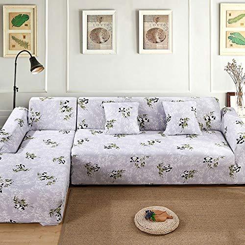 Funda de sofá Home Elástica Chaise Elástica Estampada - 1/2/3/4 Plazas Funda para Sofá Chaise Longue en Forma Protector para Sofá en Forma de L Acolchado Brazo Izquierdo