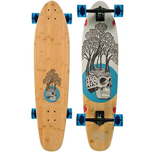 Landyachtz - Bamboo Ripper Longboard Complete 2016, Tree Skull, 37x9 by Landyachtz