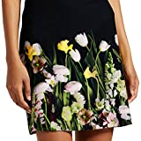 Victoria Beckham Women s Black Satin Photo Floral Skirt (3X)