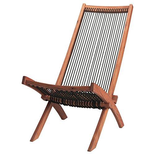 ZigZag Trading Ltd IKEA BROMMO - Ligstoel, buiten Zwart/bruin