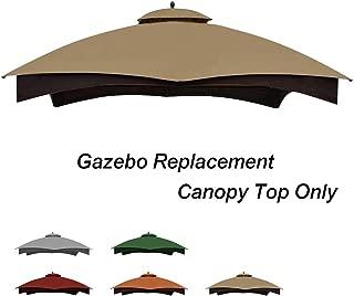 Keymaya Replacement Canopy Top for Lowe's Allen Roth 10X12 Gazebo #GF-12S004B-1 (Khaki)