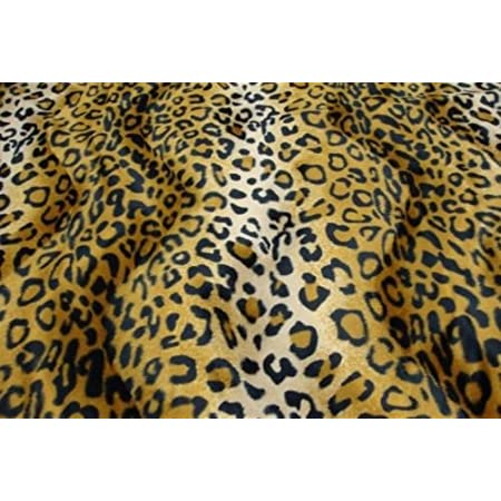 Sold By The Yard Leopard Copper Velboa Faux Fur Animal Short Pile Fabric FB