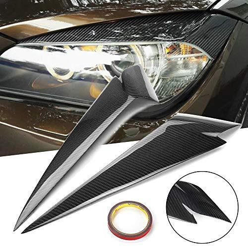 Z&LEI Paar Auto Scheinwerfer Augenbrauen Abdeckung Verkleidung Scheinwerfer Augenlider Aufkleber Für BMW X1 E84 2009 2010 2011 2012 2013 2014 2015