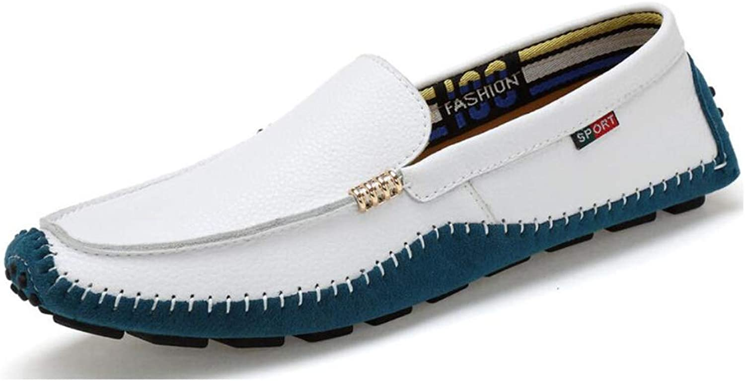 Men's Driving shoes Spring Fall Leather shoes, Comfort Boat shoes,Loafers & Slip-ONS Walking shoes,Lazy shoes