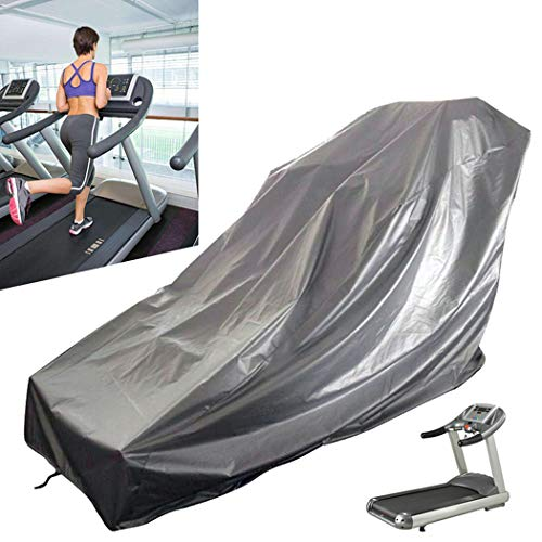 SOWUNO Exercise Bike Cover Running Machine Cover Sun Dust Shield Gray Sunscreen Waterproof Treadmill...